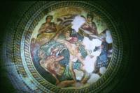 Mozaika z Tezeuszem z willi w Nea Pafos. Źródło: Archiwum Centrum Archeologii Śródziemnomorskiej.